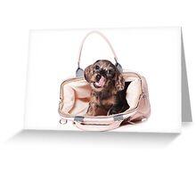 Cute Funny dachshund puppy Greeting Card