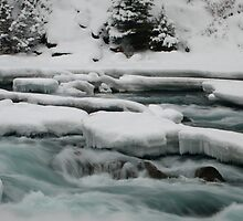 Icy river, Bow river falls, Banff, Canada by benstrong