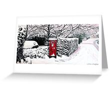 The Red Post Box  Greeting Card