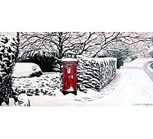 The Red Post Box  Photographic Print