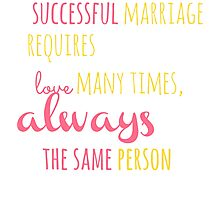 A Successful Marriage T-shirt Photographic Print