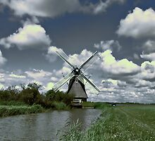 WINDMILL ON THE OP-FEART by Johan  Nijenhuis