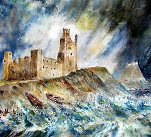 Storm at Lindisfarne by Colin Cartwright