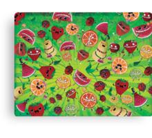 Crazy Fruit Madness Canvas Print