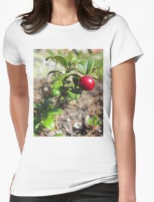 Lingonberry in the wood Womens Fitted T-Shirt
