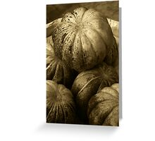 Pumpkins (Sepia) Greeting Card