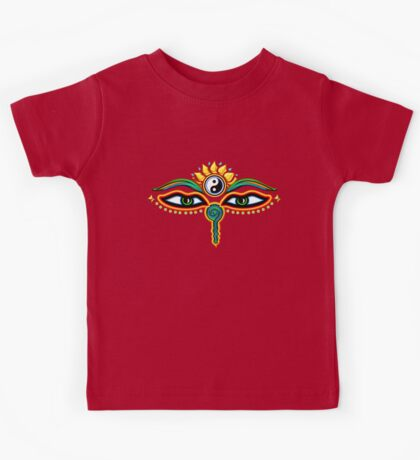 Buddha eyes, symbol wisdom & enlightenment, Kids Tee