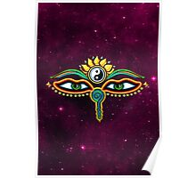 Buddha eyes, symbol wisdom & enlightenment, Poster