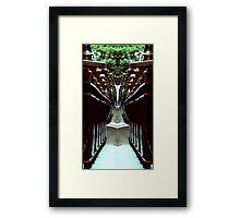Funky Fence Framed Print