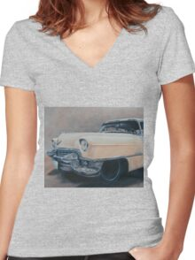 Cadillac study Women's Fitted V-Neck T-Shirt