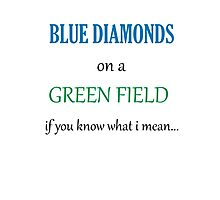 Blue Diamonds on a Green Field- Wicked Photographic Print