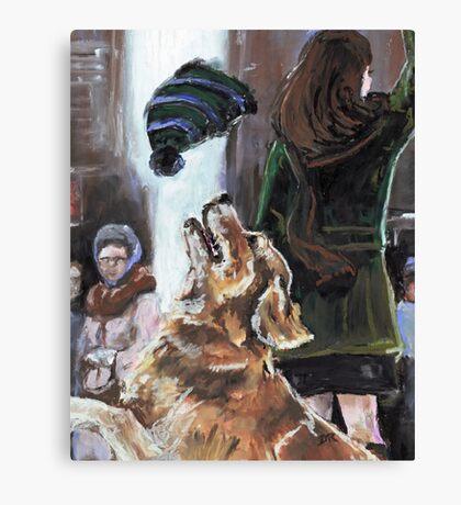 The Mary Tyler Moore Golden Retriever Canvas Print
