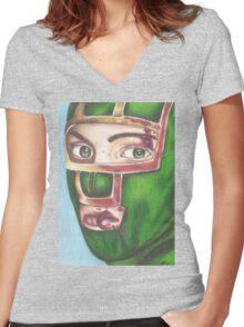 Kick Ass Women's Fitted V-Neck T-Shirt