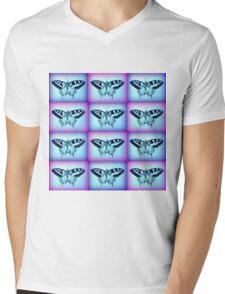 purple and blue 5 Mens V-Neck T-Shirt
