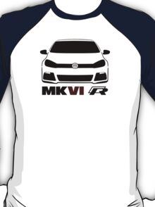 VW MK6 Golf R Front View T-Shirt