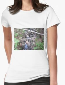 Almost empty stream Womens Fitted T-Shirt