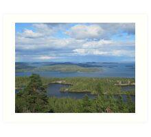 Islands of north sweden Art Print