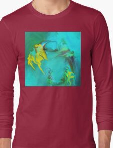 Searching for Peace abstract ART+Product Design Long Sleeve T-Shirt