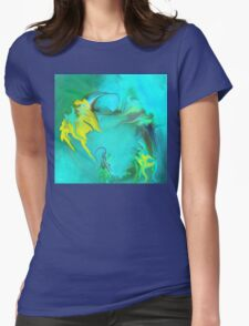 Searching for Peace abstract ART+Product Design Womens Fitted T-Shirt