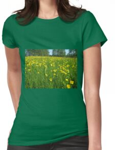 Flower field Womens Fitted T-Shirt