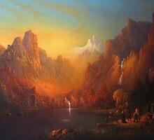 The Fellowship Of The Ring Moria by Joe Gilronan