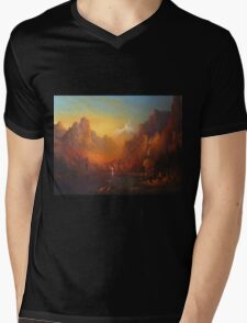 The Fellowship Of The Ring Moria Mens V-Neck T-Shirt