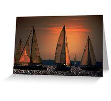 Sunset delight Greeting Card