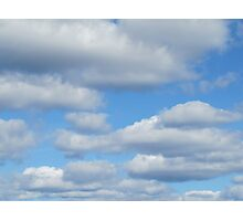 Fluffy clouds Photographic Print