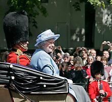 The Queen in blue by Keith Larby