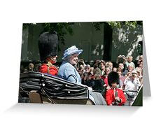 The Queen in blue Greeting Card