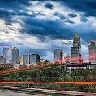 charlotte city skyline by Alexandr Grichenko