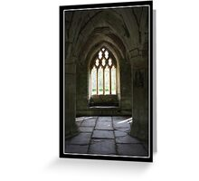 Valle Crucis Abbey - Llangollen, Wales Greeting Card