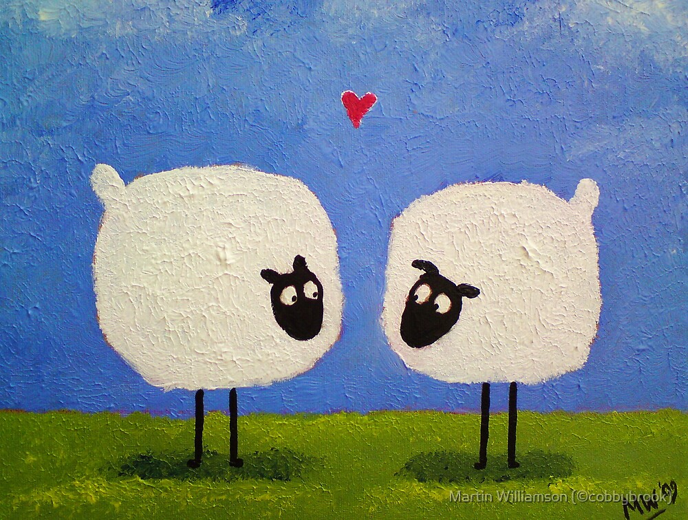 'I love ewe' by Martin Williamson (©cobbybrook)