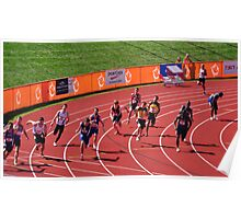 4x100m Hand Off  Poster