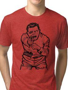 Zombie Shooting Target Tri-blend T-Shirt