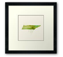 Watercolor Tennessee Framed Print