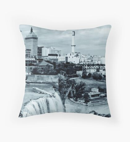 kodak and high falls Throw Pillow