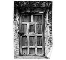 Wooden Door with Peephole Poster