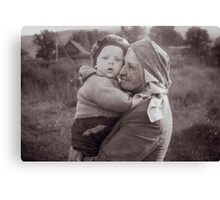 Grandmother and child Canvas Print