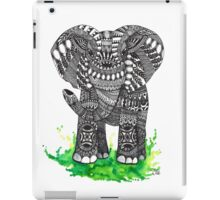 Watercolor and Ink Mandala Elephant  iPad Case/Skin
