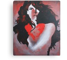 Naked Heart Canvas Print