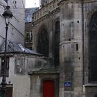 Red Door, Cloitre de St-Merri, Paris by Robert Arconti