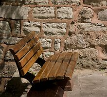 Stone Wall Bench by phil decocco