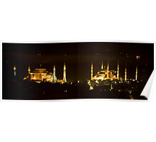 Mosques By Night Poster