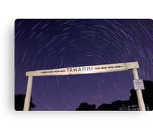 Star Trails At Tawarri  Canvas Print