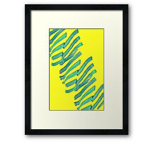 stripes of a flag Framed Print
