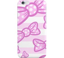 Pink bows iPhone Case/Skin