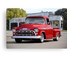 1957 Chevrolet Custom Stepside Pickup Canvas Print