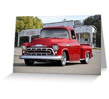 1957 Chevrolet Custom Stepside Pickup Greeting Card