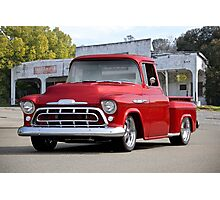 1957 Chevrolet Custom Stepside Pickup Photographic Print